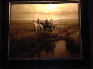 The Three Chiefs photograph by Edward Curtis