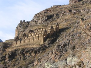 These ancient Inca granaries sit precariously on a hill above Ollantaytambo, Peru. In 2005 they were the focus of my first project, a trail which future students completed only a few years ago.