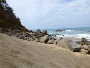 The beach where I did my daily swim