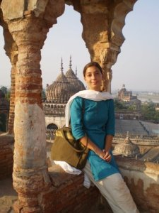 """Atop the Bhoolbhulaiya or Labarynth (The direct Urdu translation is """"the thing that makes you forget"""") in Lucknow, India"""