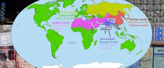 World scripts map