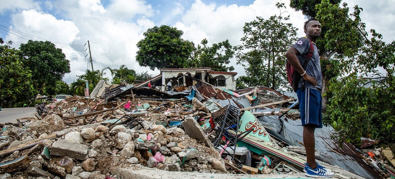 La communauté des Cayes, dans le sud d'Haïti, a été fortement affectée par le séisme du 14 août.
