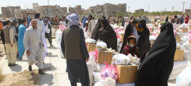 Food is distributed by WFP in Herat in western Afghanistan in August 2021.