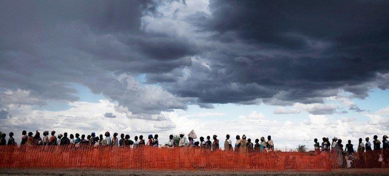 La población más vulnerable, como estas personas desplazadas en Sudán del Sur, es la que más sufre los efectos del cambio climático.
