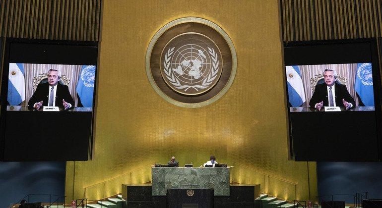 Argentina pide considerar la vacuna contra la Covid-19 como un bien global