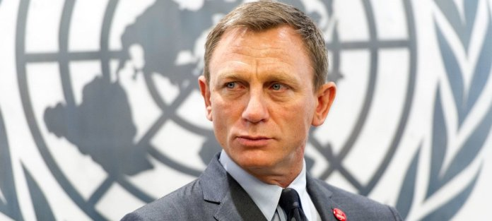 Daniel Craig, UN Global Advocate for the Elimination of Mines and Explosive Hazards.