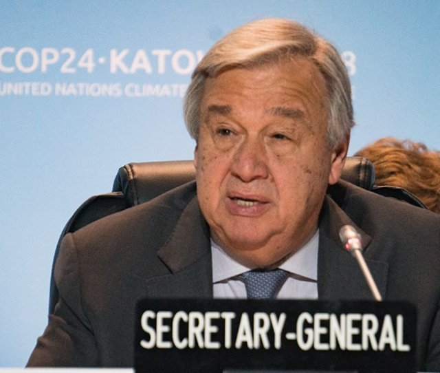 Failing To Agree On Climate Action Would Not Only Be Immoral But Suicidal Un Chief Tells Cop24