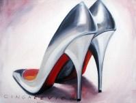 Gorgeous Silver Shoes 40x30cm oil on canvas