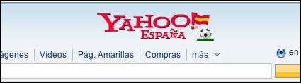 Yahoo! Spain header for Euro 2008