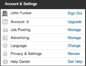 LinkedIn language icon