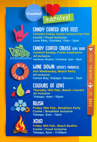 Candy Coated Fetes Trinidad Carnival 2018