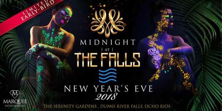 Midnight at the falls