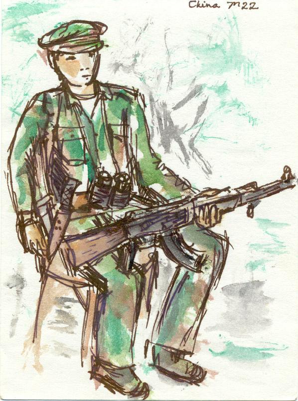 Portrait of Kachin soldier, Pajau 1991 by Edith Mirante
