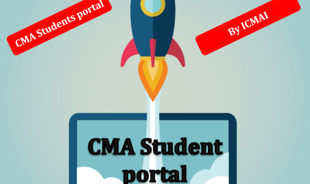 Redesigned CMA student portal by ICMAI