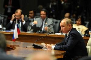 Vladimir Putin at an event