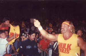 Hulk Hogan at an event in the 1980s.