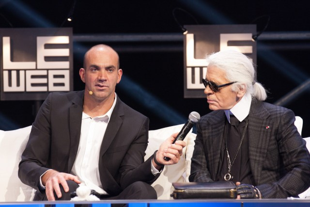 karl lagerfeld at an event