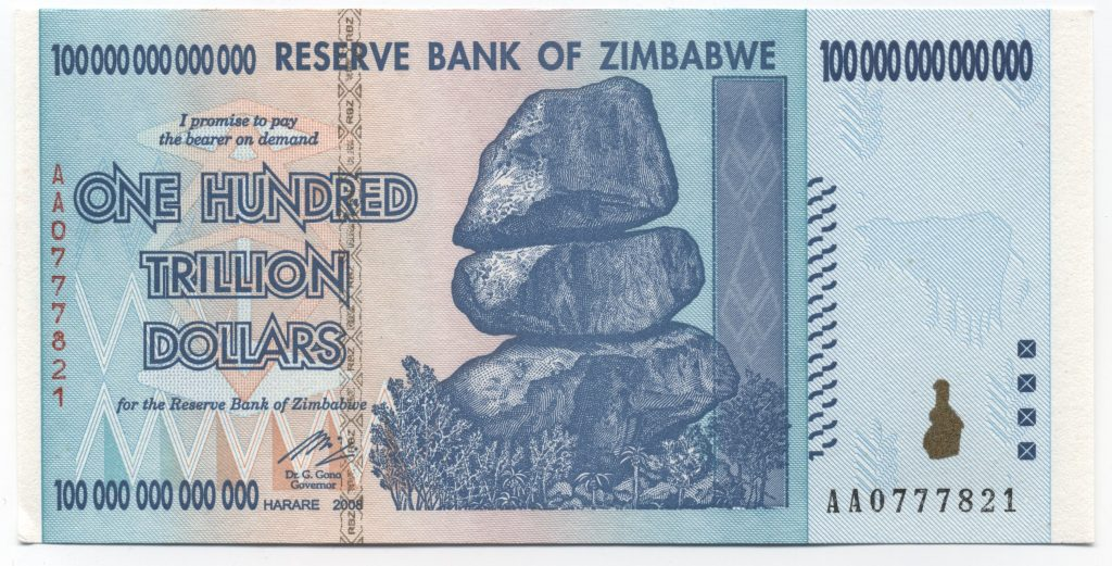 Image result for Zimbabwe money