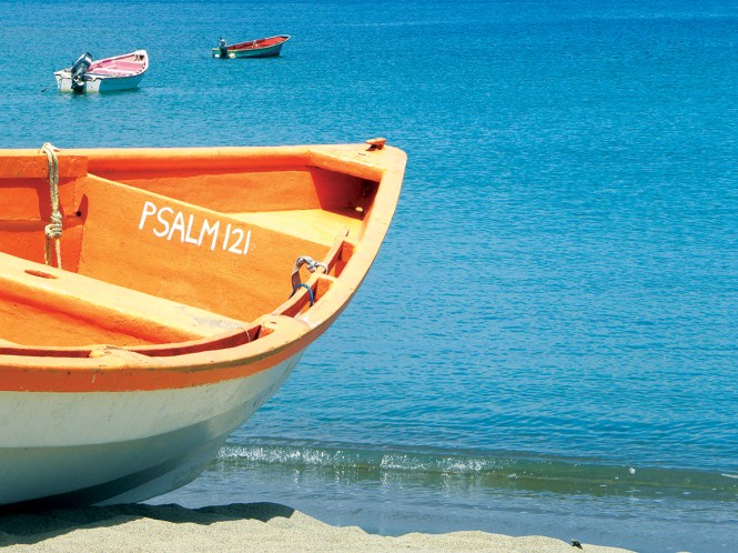 Fishing boat in the Caribbean