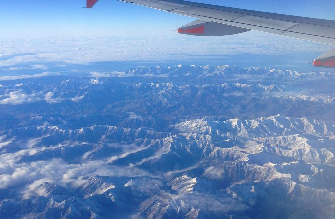 Flight over New Zealand's South Island