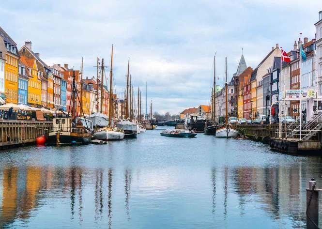 Nyhavn neighborhood in Copenhagen