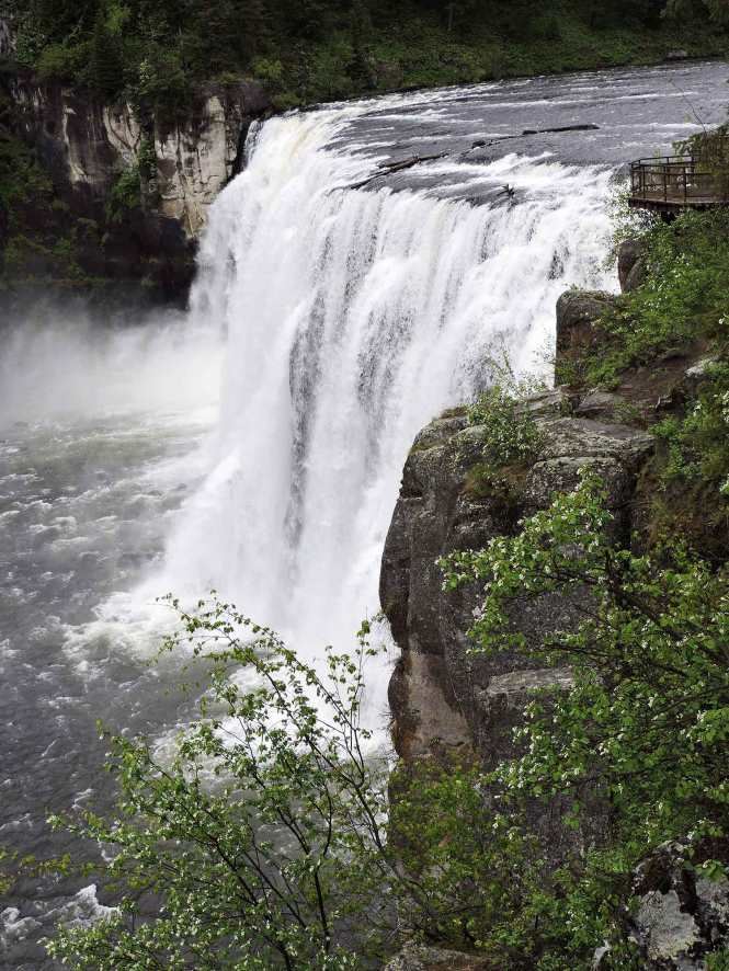 Mesa Falls quick getaway from West Yellowstone