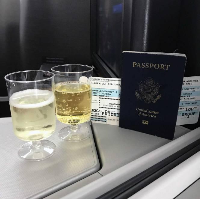 First-class flight home