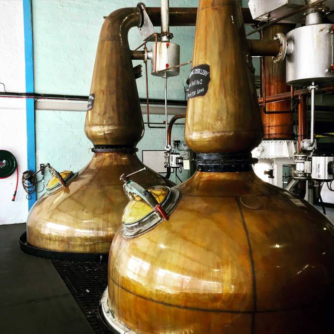 Laphraoig Distillery in Islay, Scottish Isles