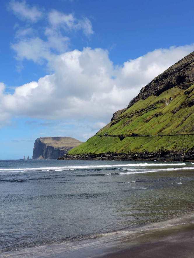 tjornuvik sea stacks in faroe islands