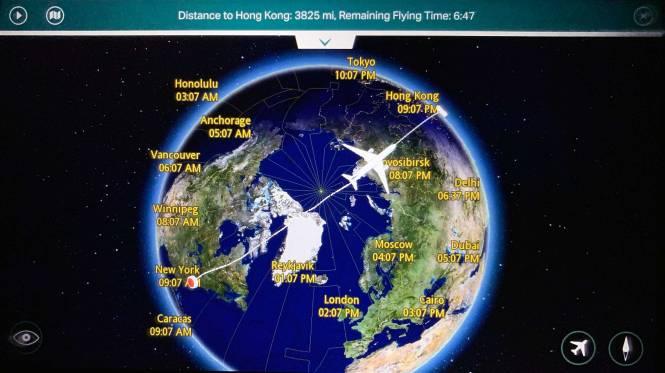 Flight map from DC to Hong Kong
