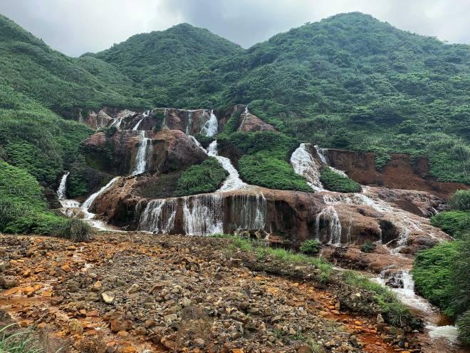 Golden Sea Waterfall in Taiwan