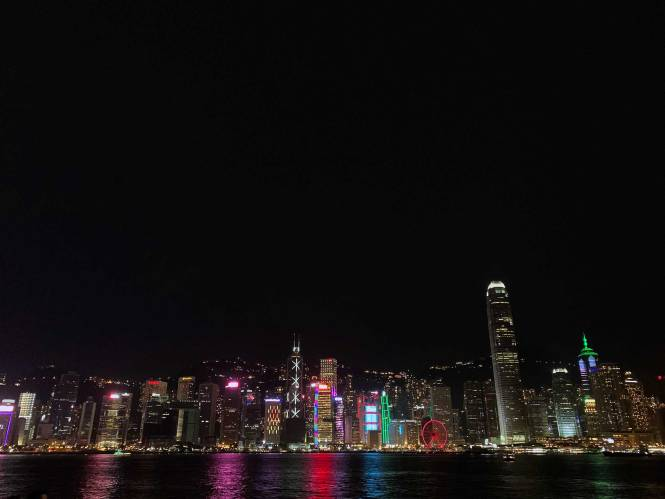 Hong Kong Promenade at night