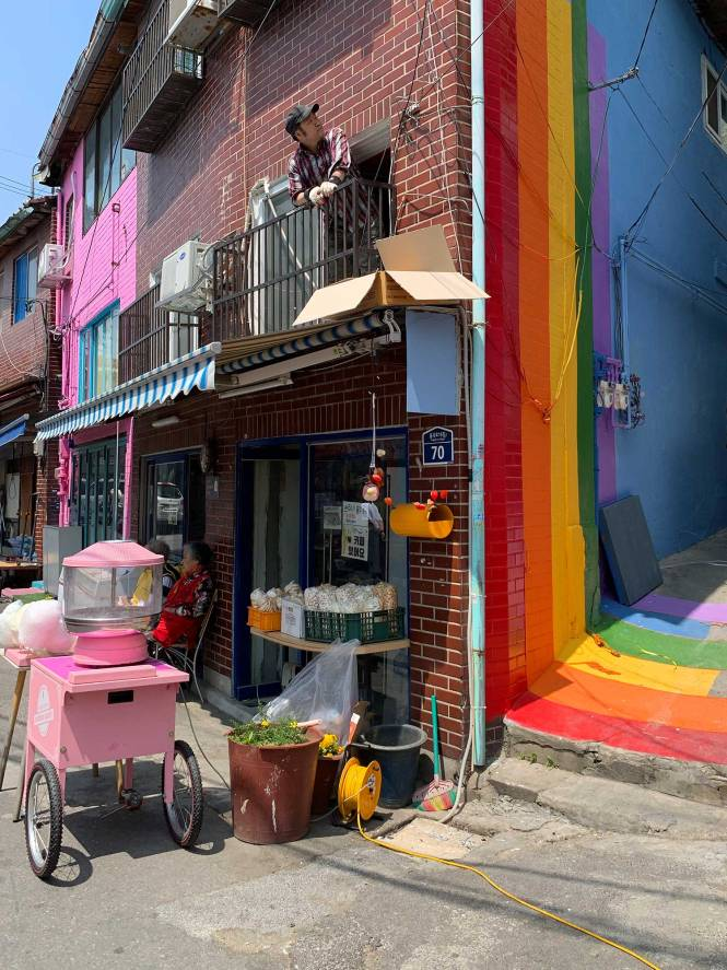 Ihwa Mural Village in Seoul, South Korea