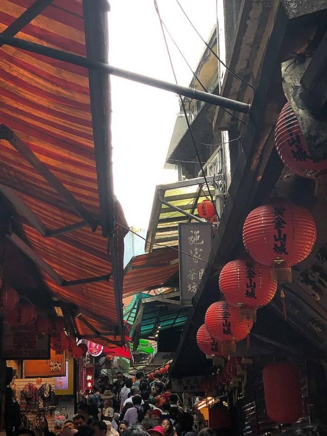 Jiufen Market in Taiwan