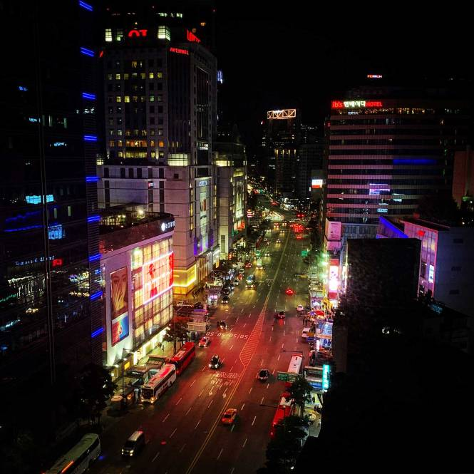 Seoul, South Korea at night
