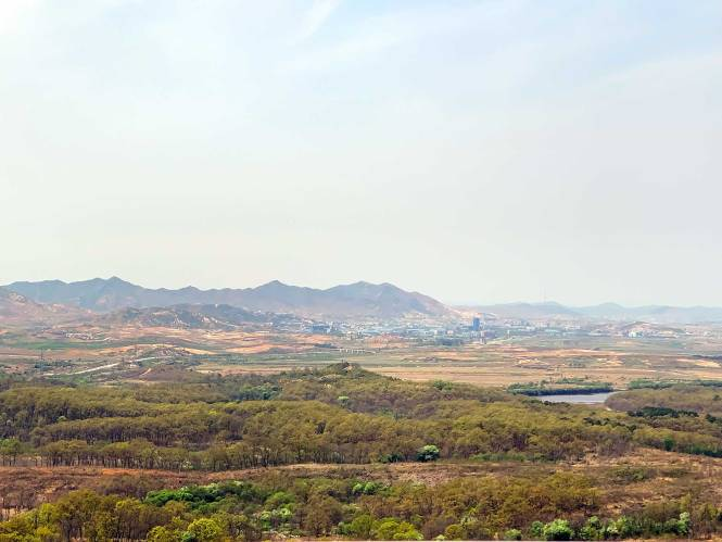 View of North Korea while visiting the DMZ