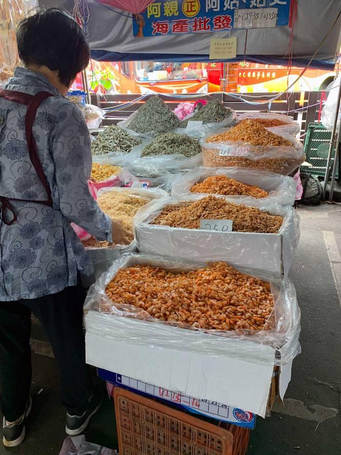 Yehliu food market in Taiwan