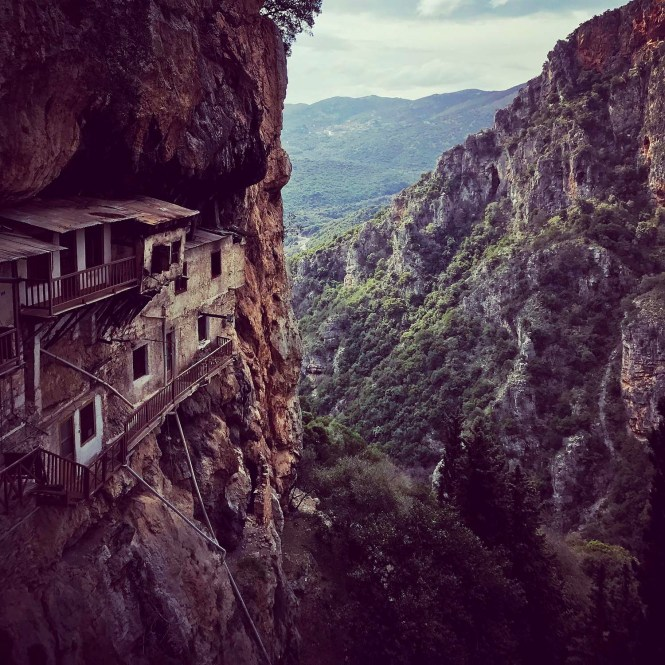 Prodromou Monastery in a mountainside