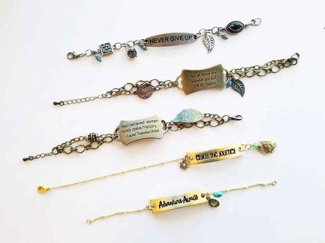 Free Verse bracelets