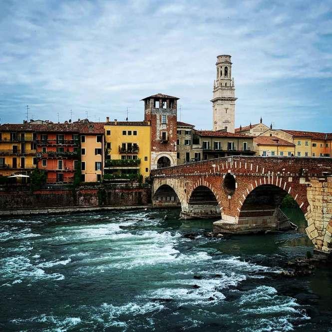 Ponte Pietra in Verona, Italy