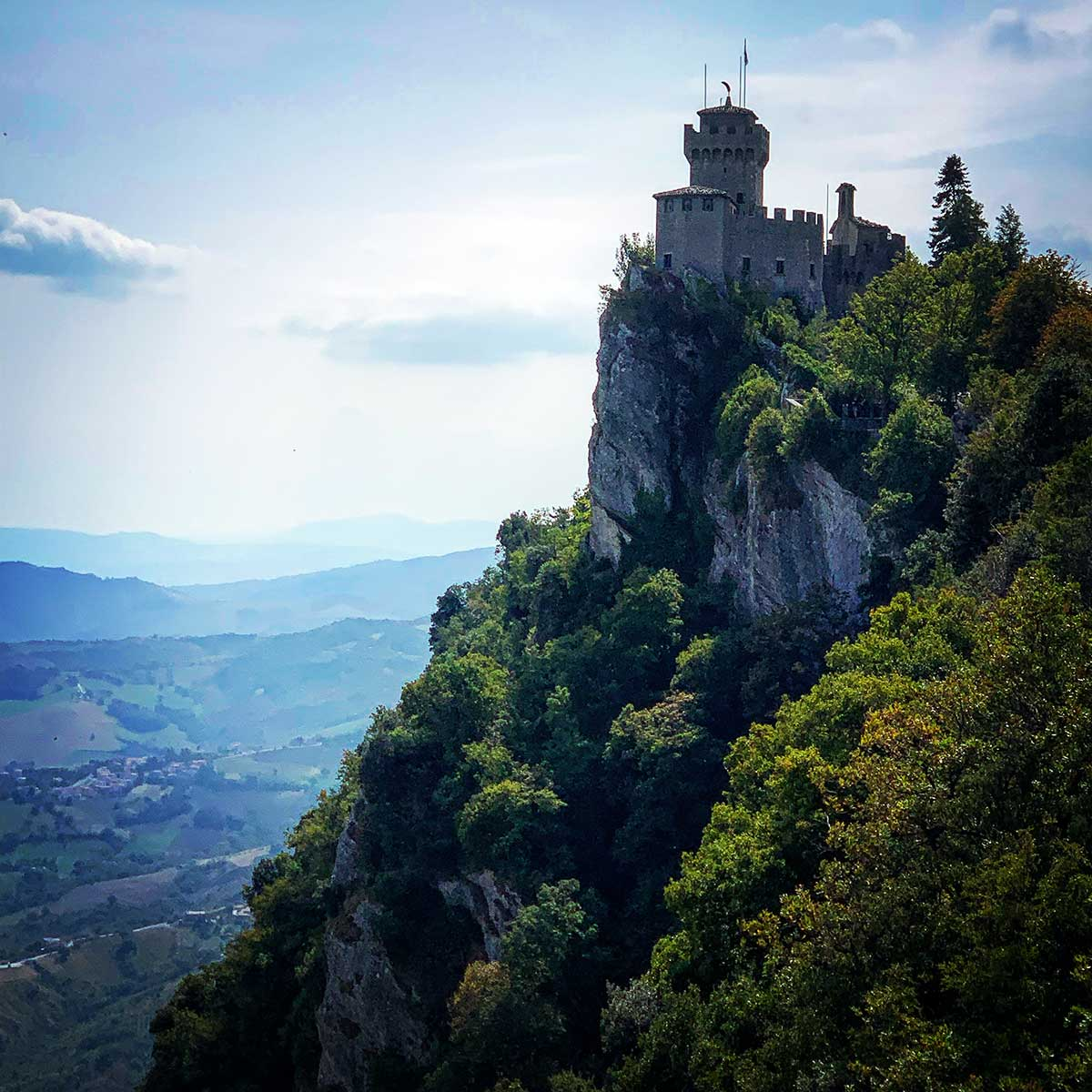 San Marino Castle tower