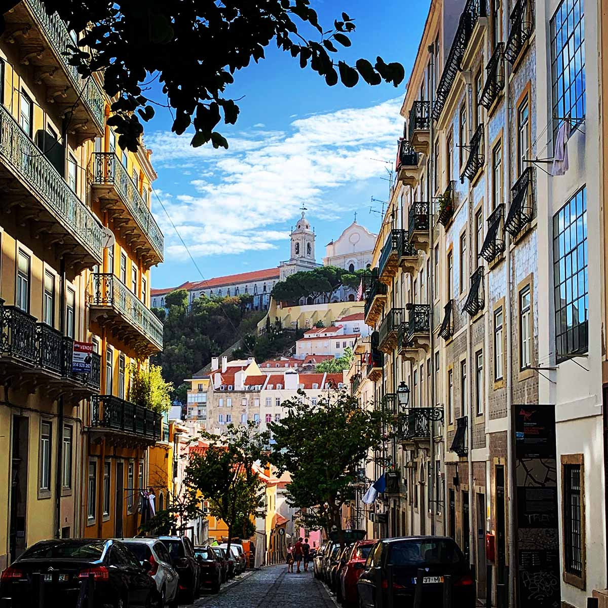 The colorful streets of Lisbon, Portugal