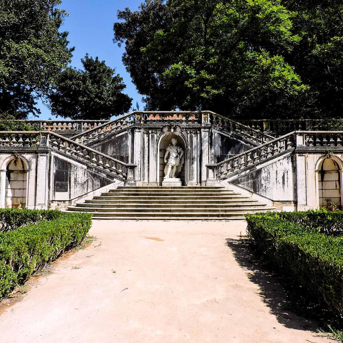 Jardim Botanico da Ajuda stairs in Belem