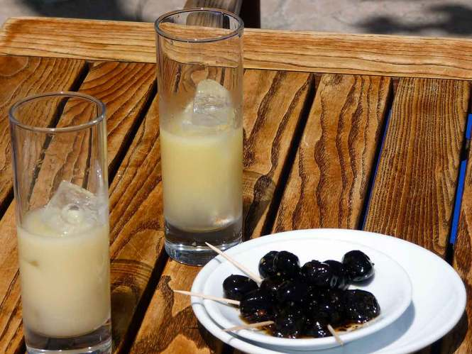 "Pastis and olives for ""Interesting Liquors from Around the World"""