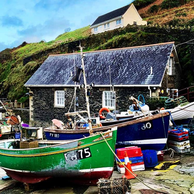 Portloe in Cornwall on our UK road trip