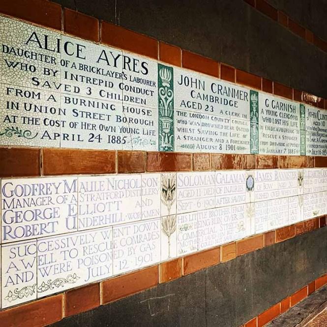 Postman's Park plaques