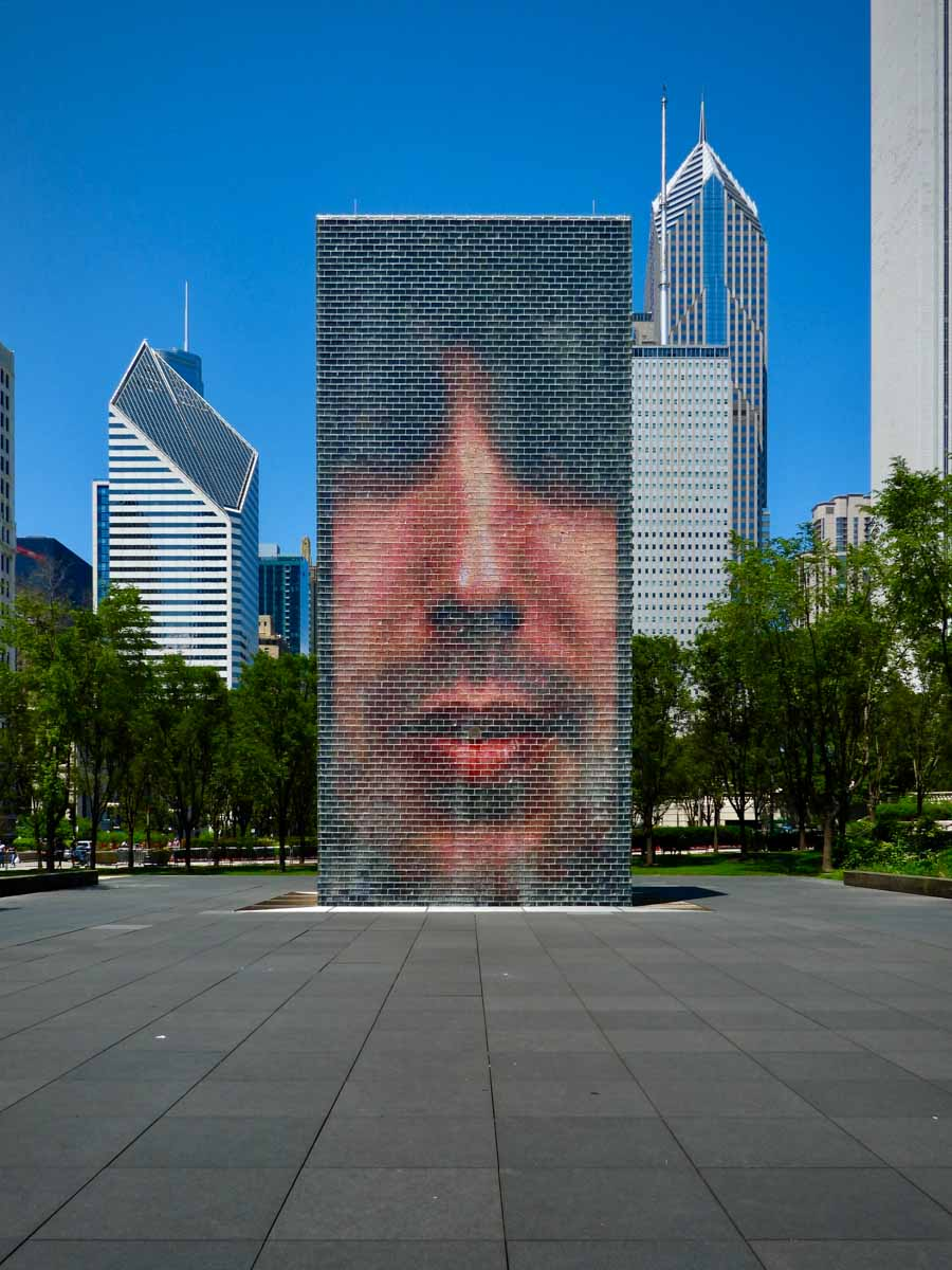 Crown Fountain in Millenium Park, Chicago