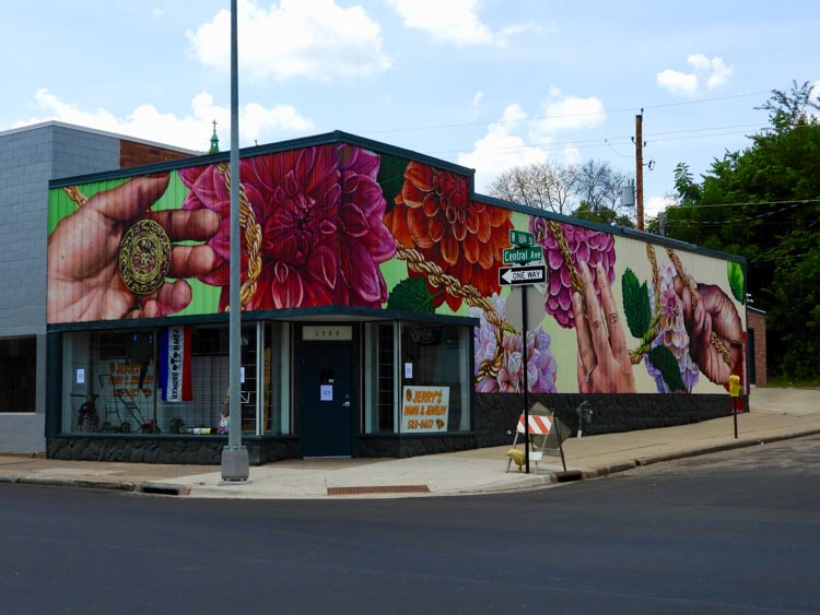Street art in Dubuque, Iowa, America's Heartland town