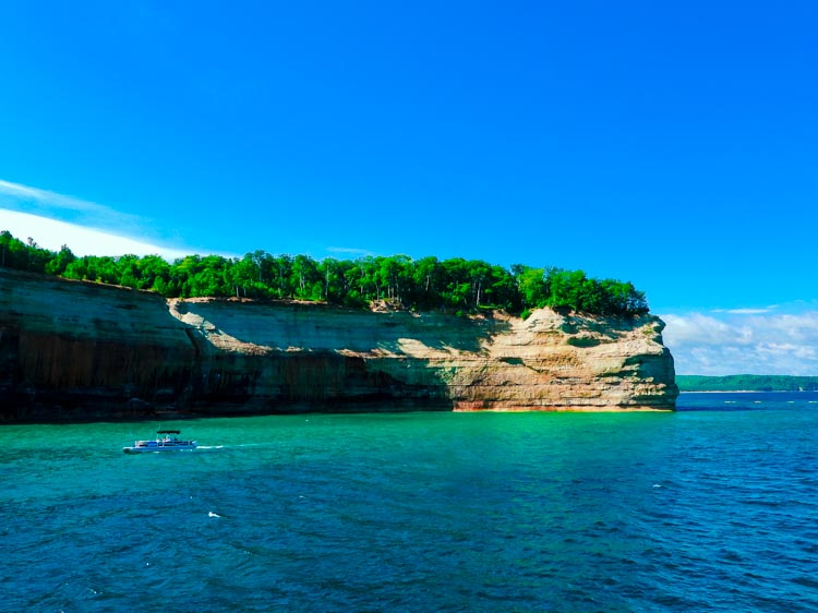 Turquoise waters at Pictured Rocks National Lakeshore