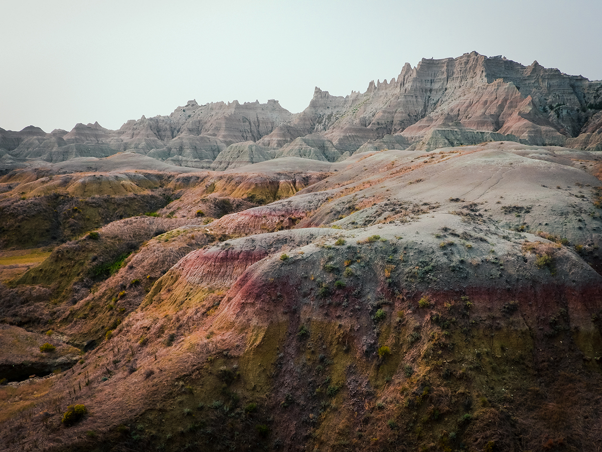Badlands colored striations